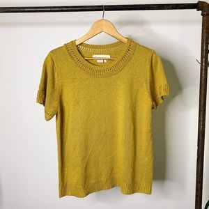 Anthropologie Sweater Short Sleeve Top